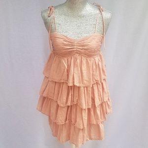 XXI Dusty Pink Ruffled Mini Dress